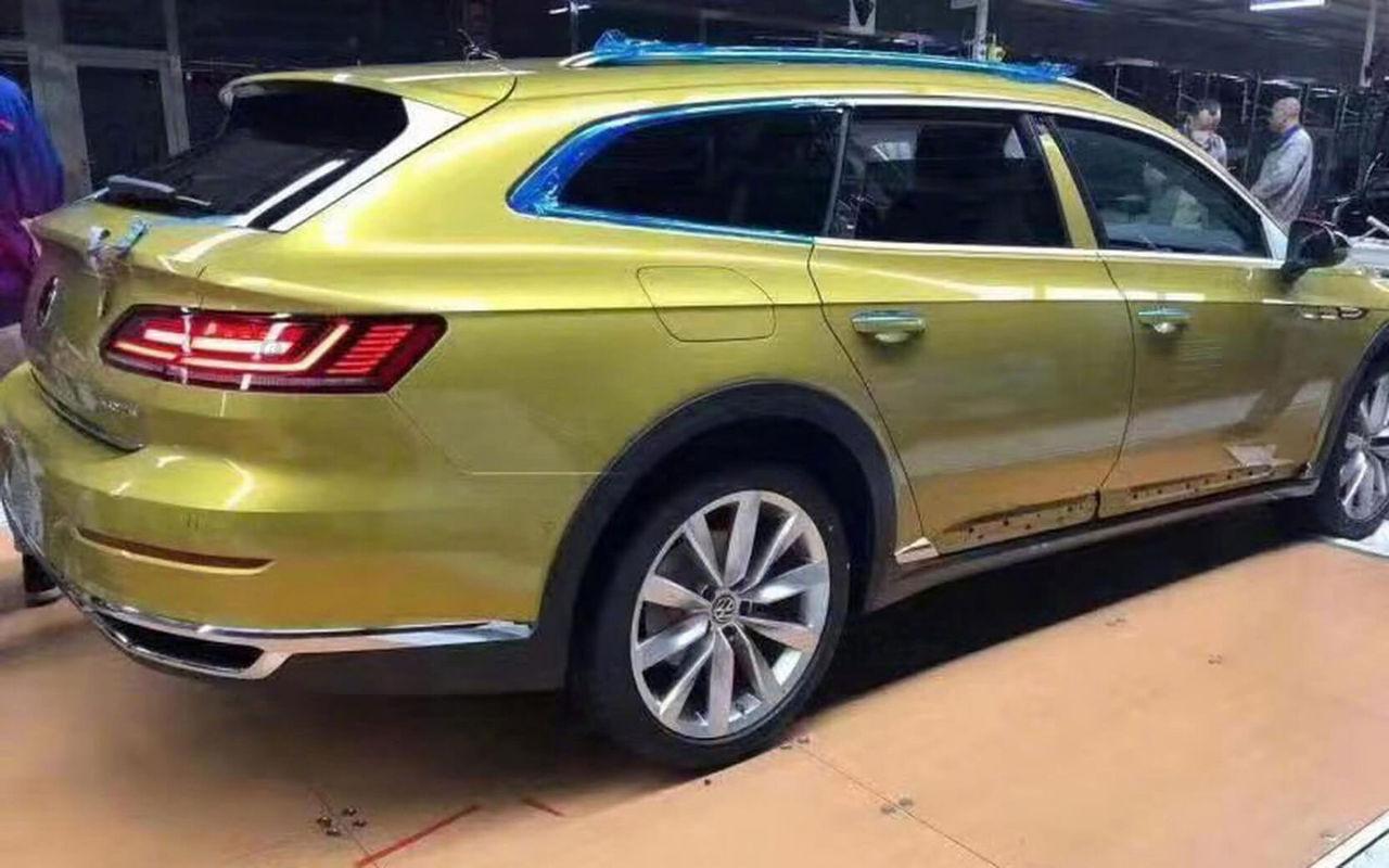 Volkswagen Arteon som slank kombi läcker ut