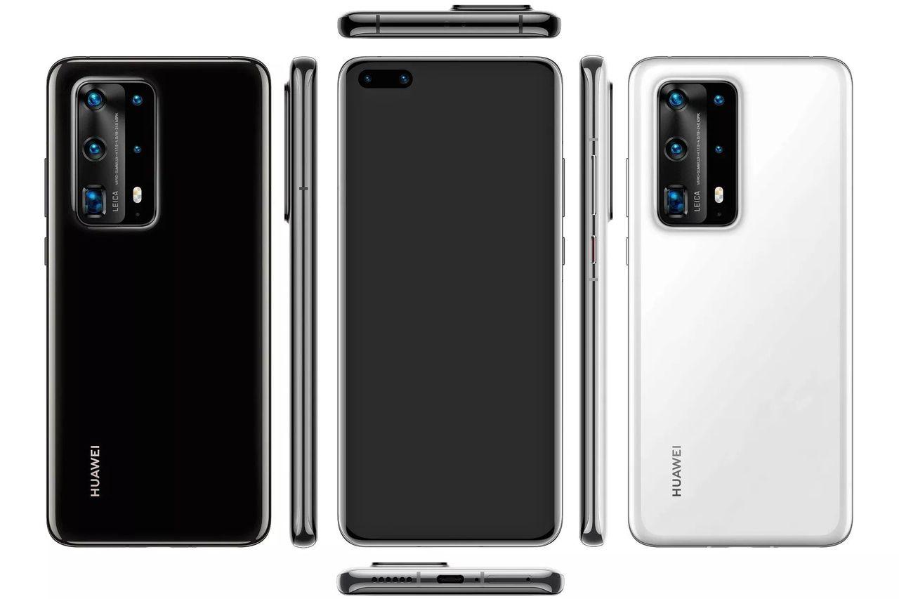 Läckta bilder visar Huawei P40 Pro med sju kameror