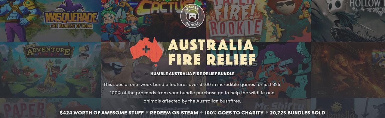 Fynda spel och donera pengar till Australien i samma veva