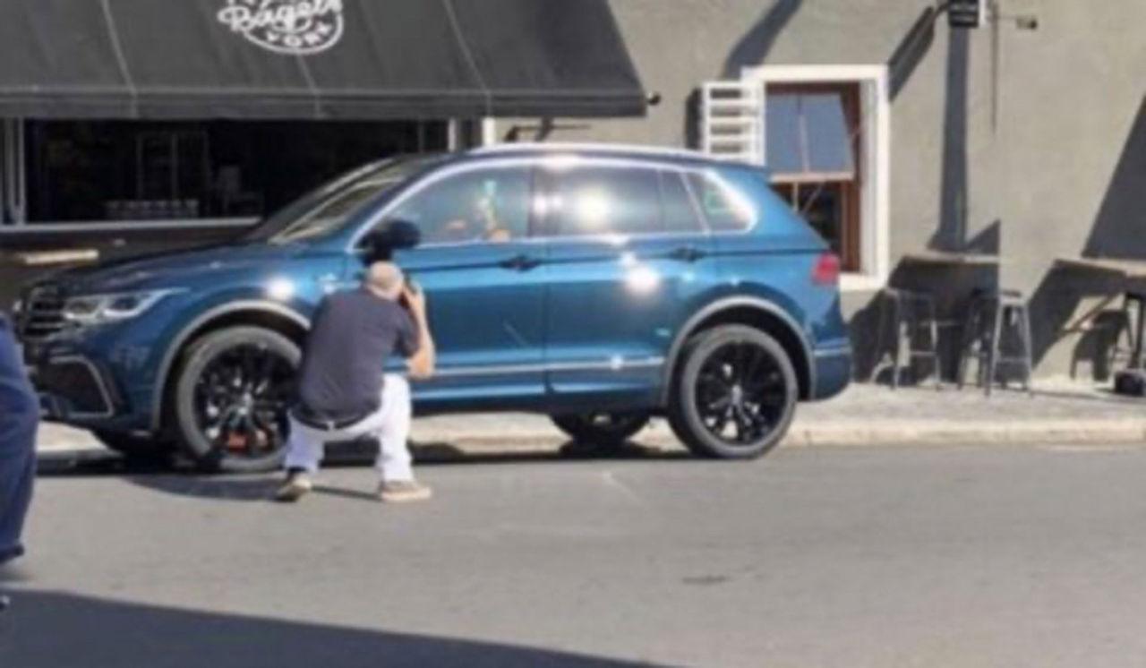 Volkswagen Tiguan facelift fångad utan maskering