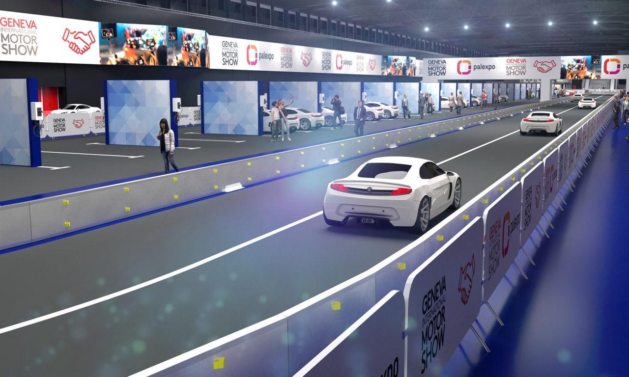 Årets bilmässa i Genève får testbana inomhus