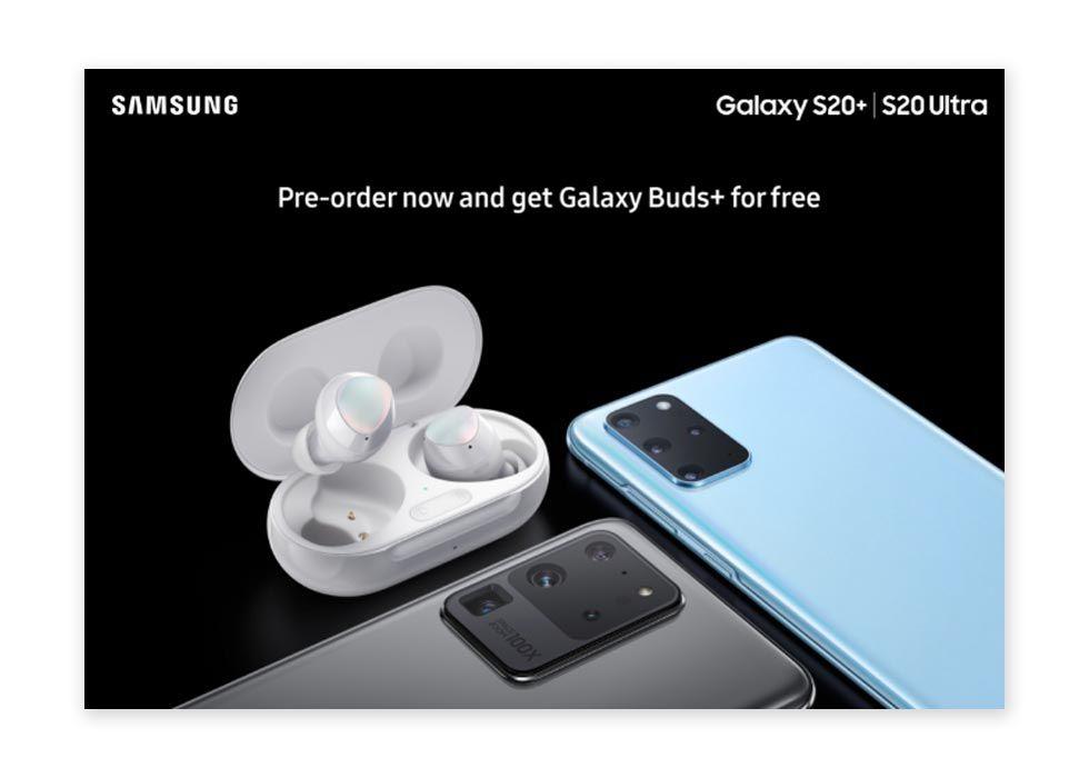 Samsung verkar släppa Galaxy Buds+ tillsammans med S20