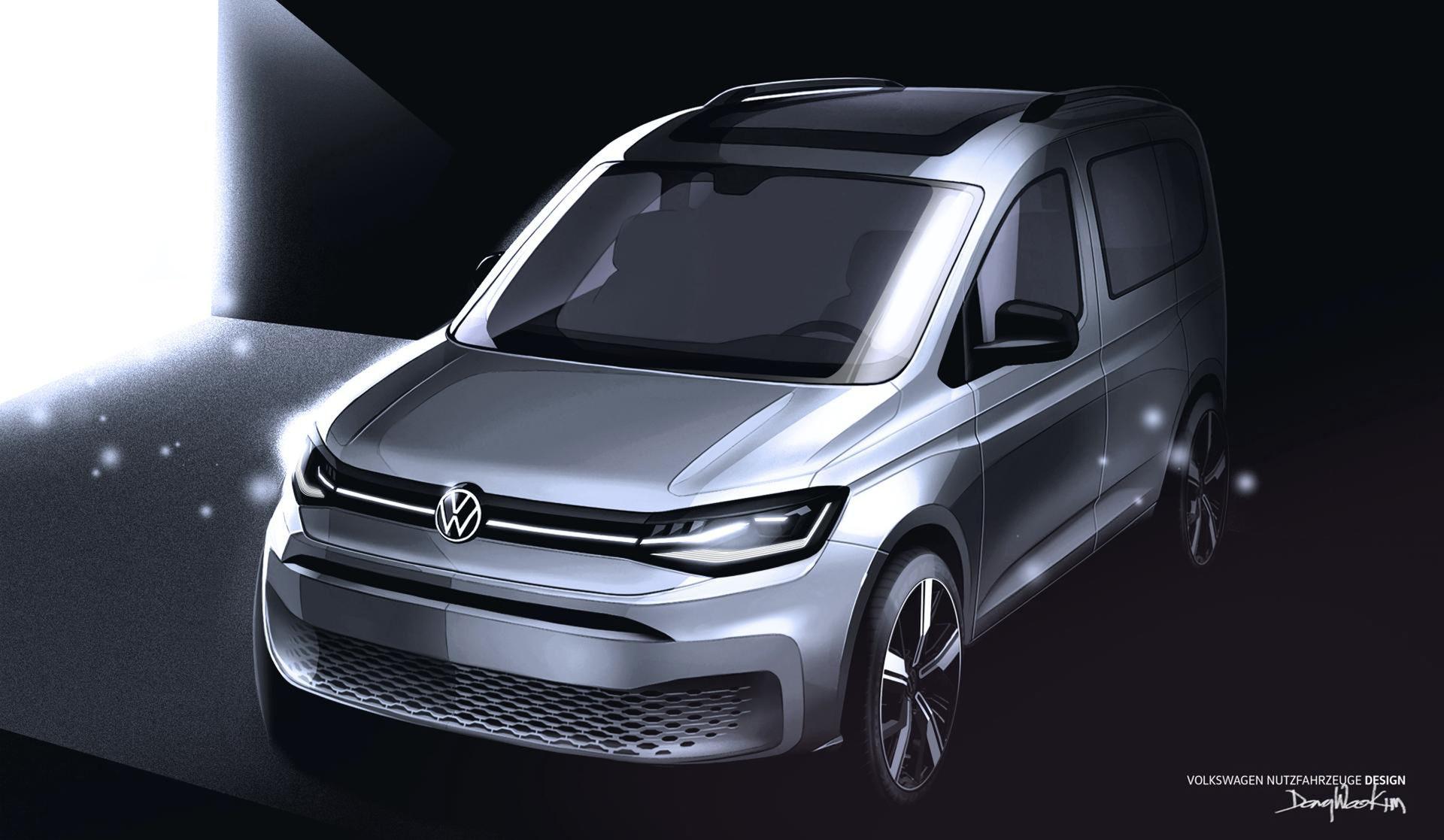 Nya teaserbilder på nästa Volkswagen Caddy