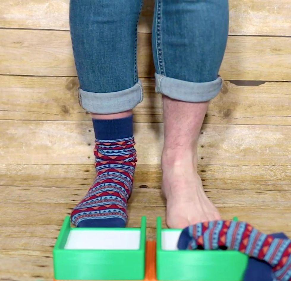Uppfinning tar av dig strumporna