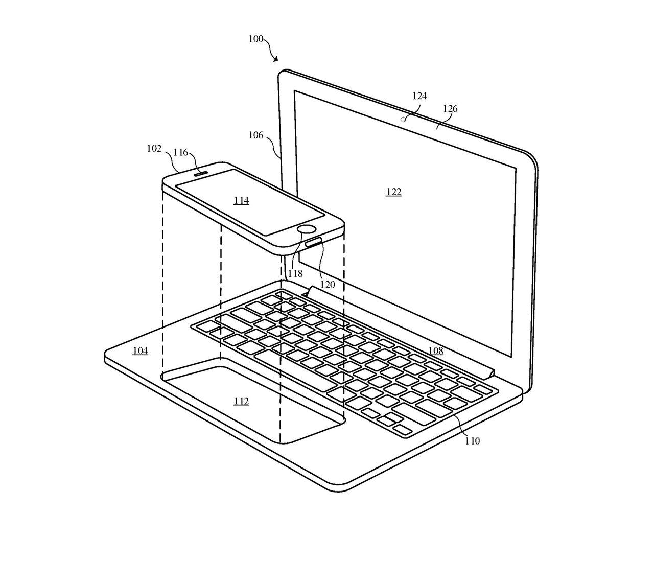 Apple har funderat på att stoppa iPhone i MacBook
