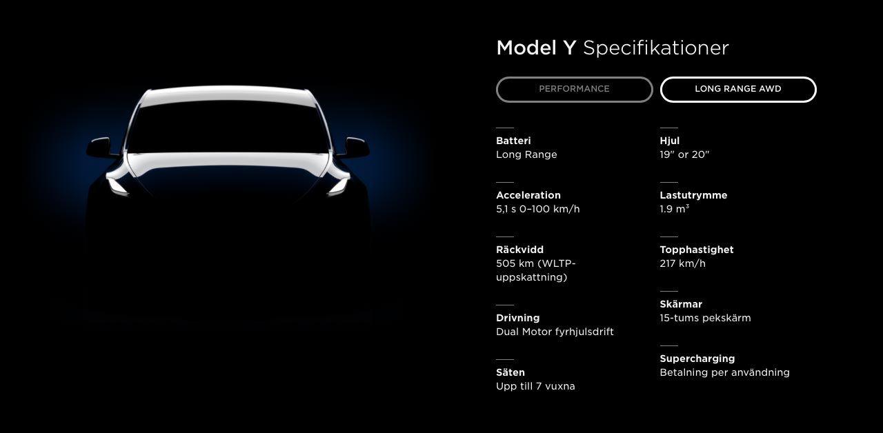 Tesla Model Y börjar levereras i mars