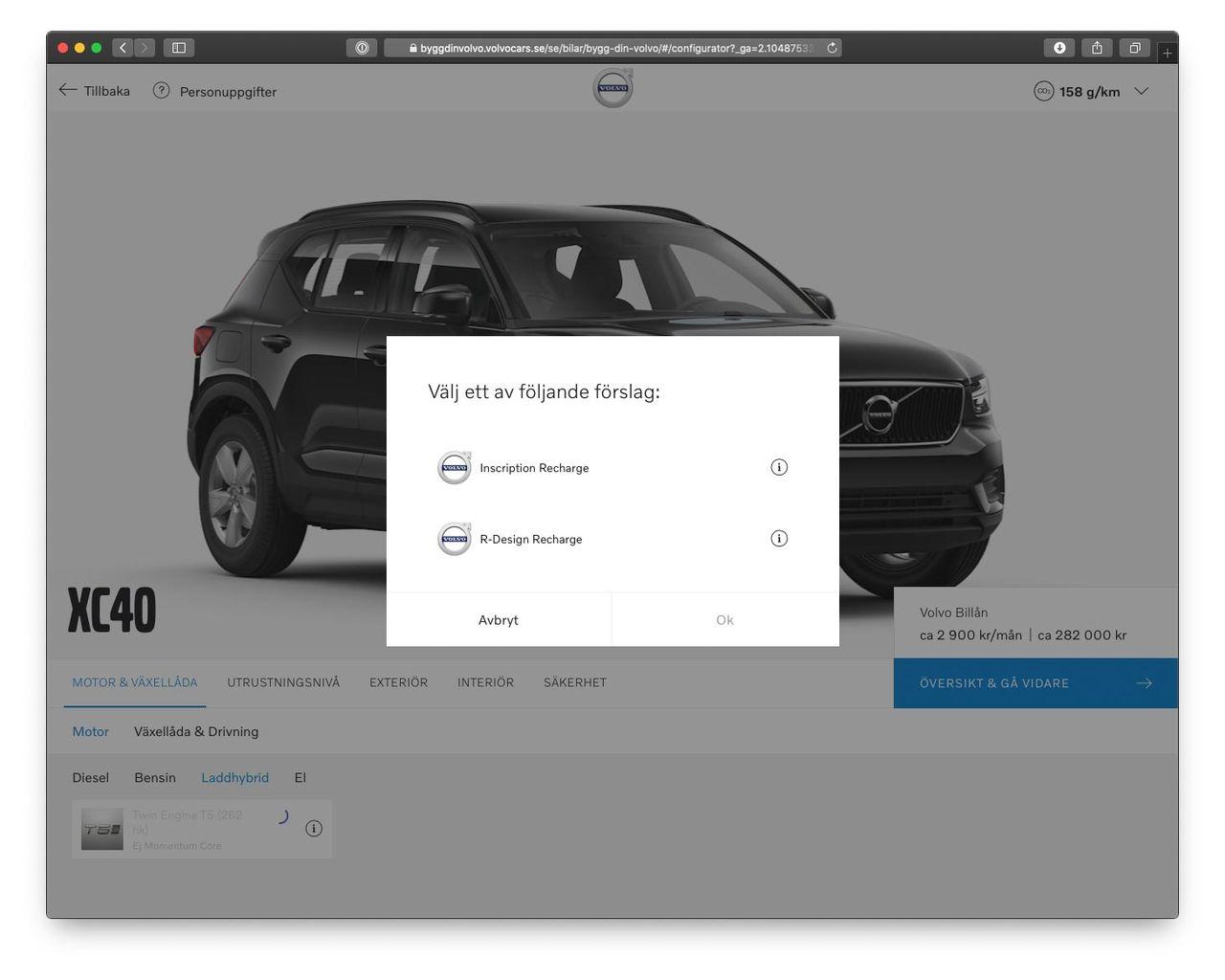 Volvo möblerar om lite bland XC40 laddhybrid