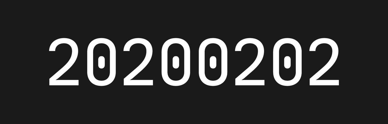 I dag är det 20200202