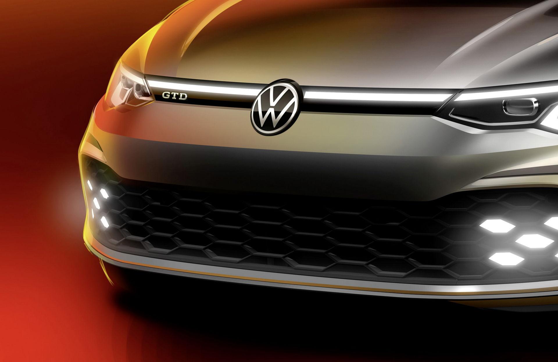 Volkswagen teasar nya Golf GTD