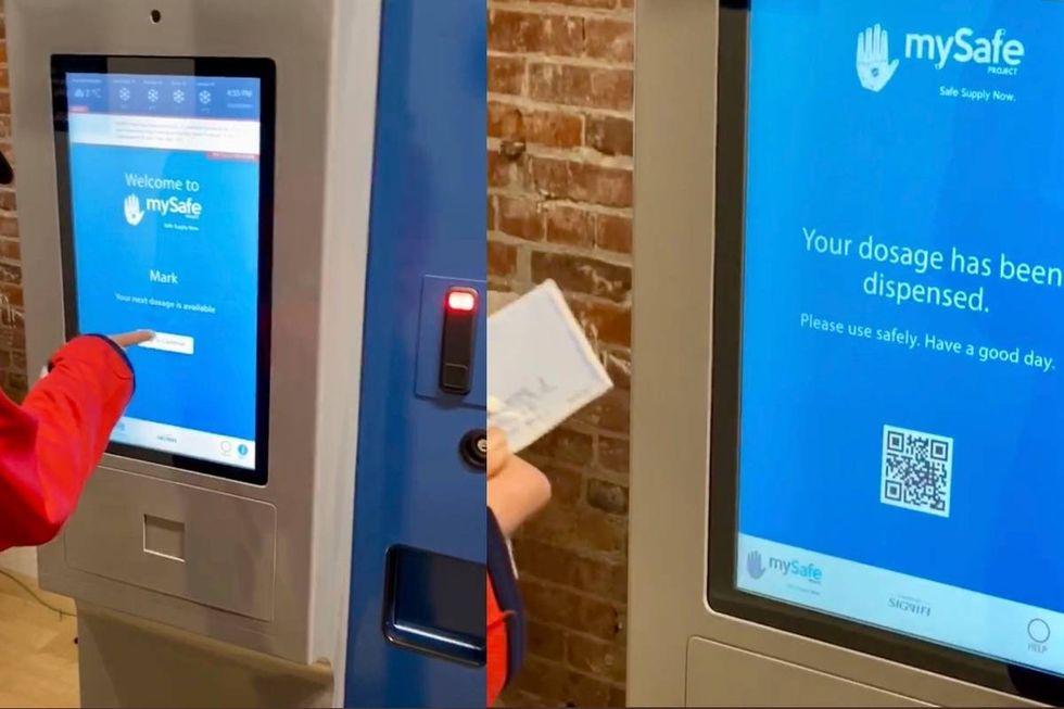 I Kanada kan missbrukare få knark i varuautomater