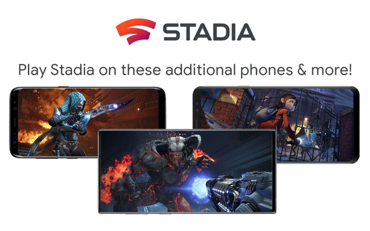 Google Stadia släpps till 18 nya telefoner