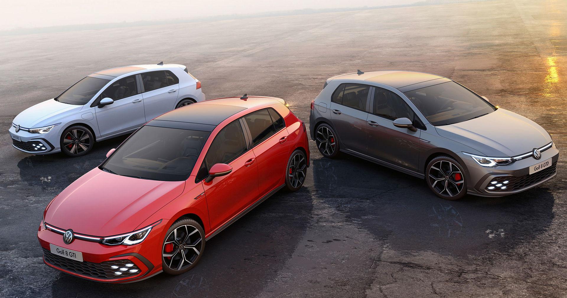 Volkswagen rullar ut nya Golf GTI, GTE och GTD