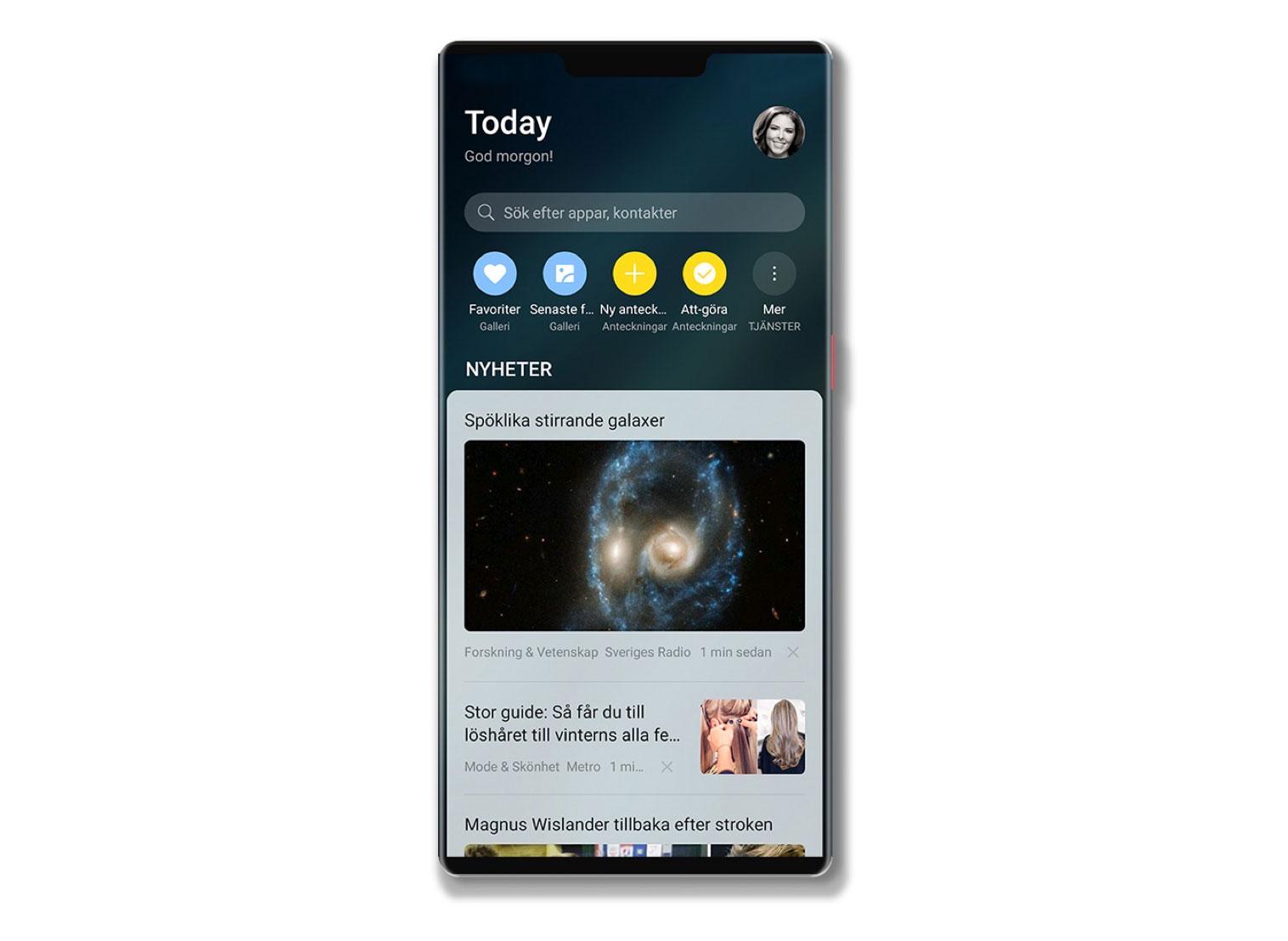 Svenska Squid levererar nyheter till Huaweis telefoner Integreras i webbläsaren och i Huawei Assistant