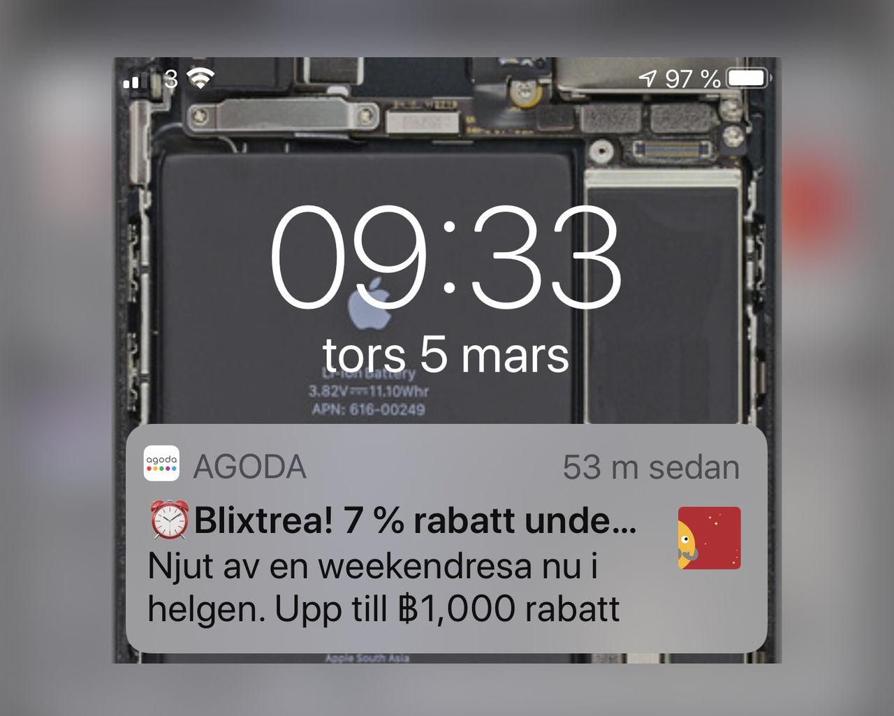 Apple börjar tillåta annonser i pushnotiser