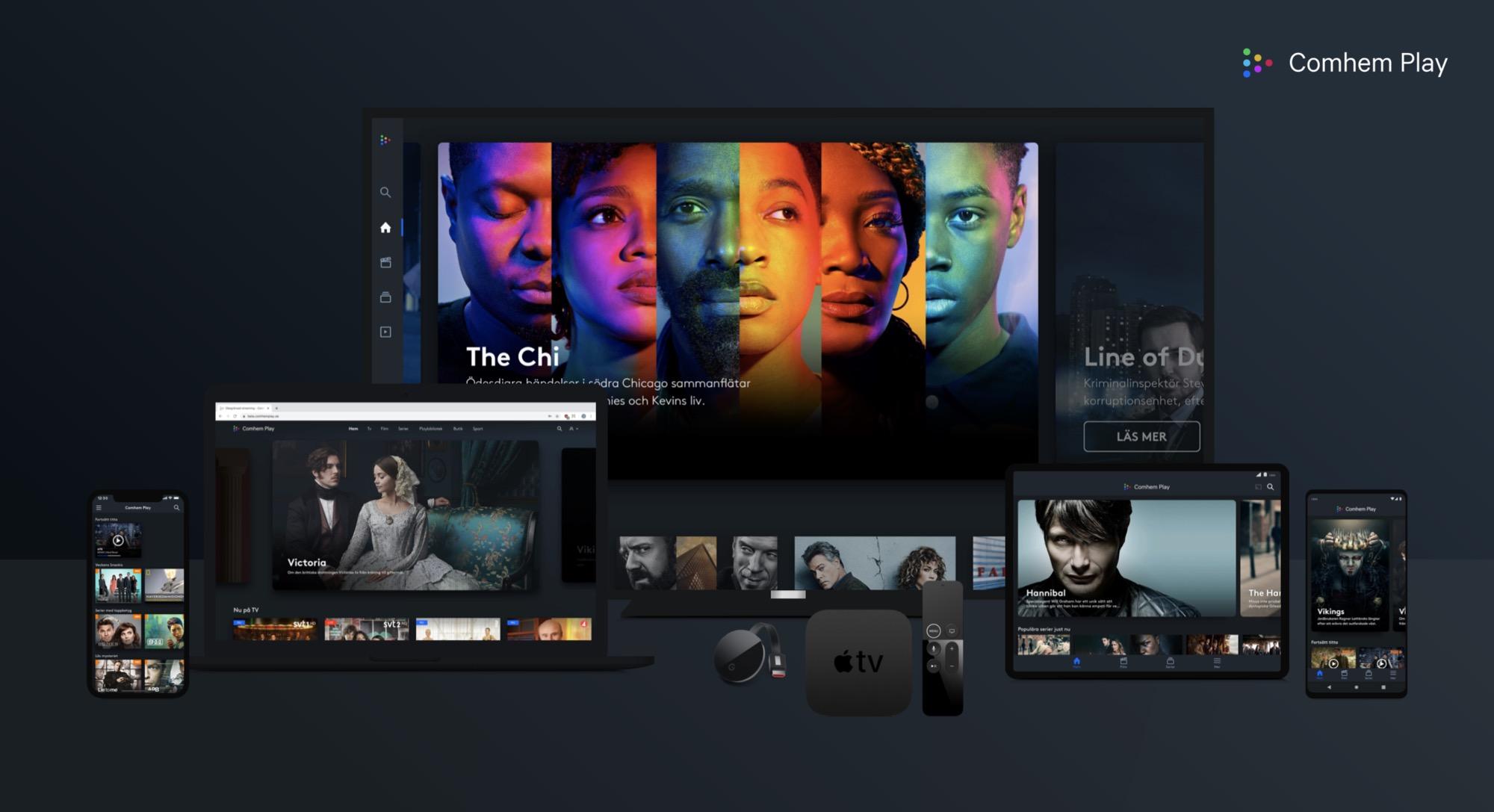 Tele2 och Comviqs kunder får gratis Comhem Play+ i ett år Kinnevik-företag bjussar andra Kinnevik-företag på streaming