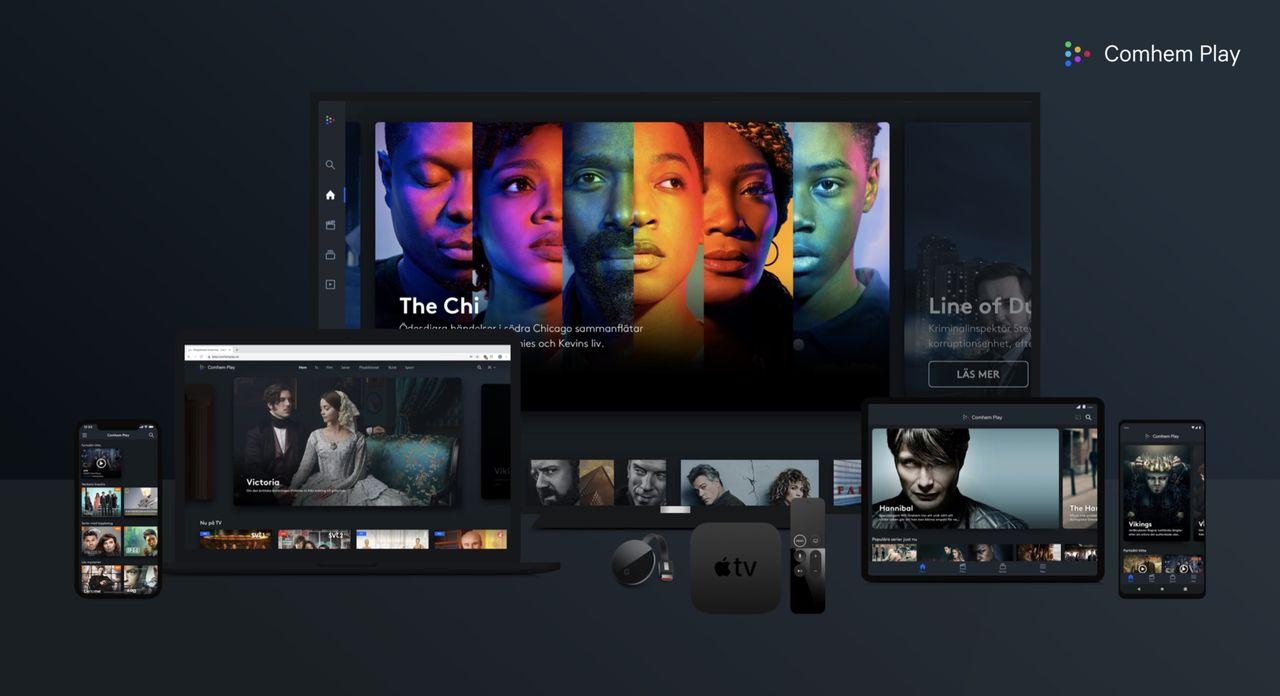 Tele2 och Comviqs kunder får gratis Comhem Play+ i ett år