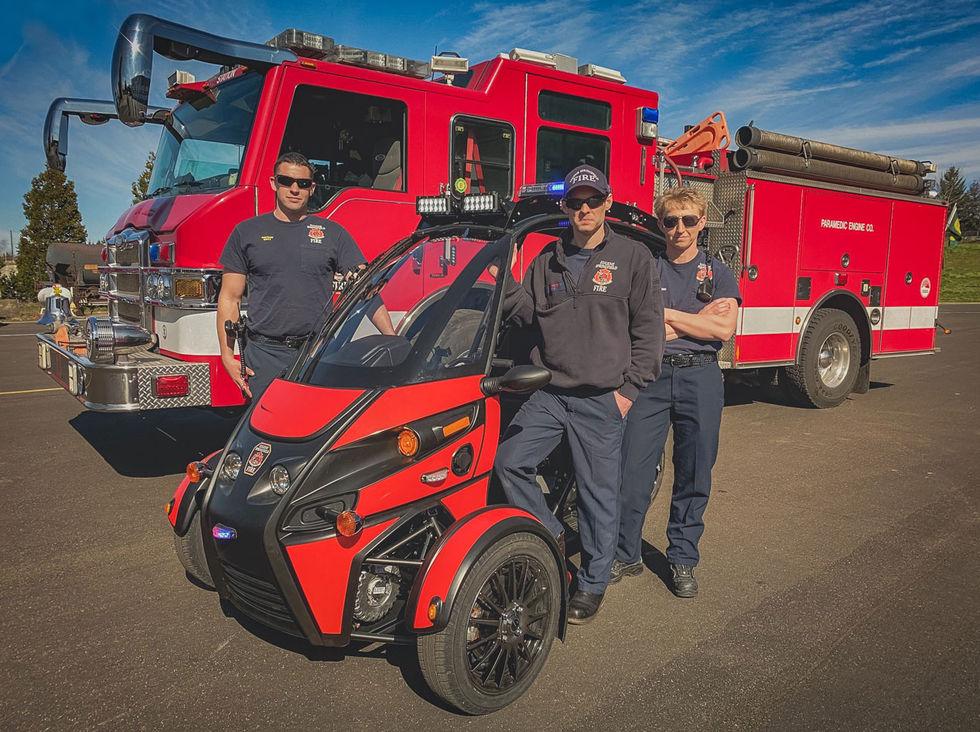 Arcimotos eldrivna trehjuling får jobb hos brandkåren