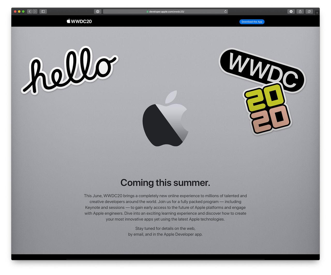 Apple ställer inte in sin utvecklarkonferens
