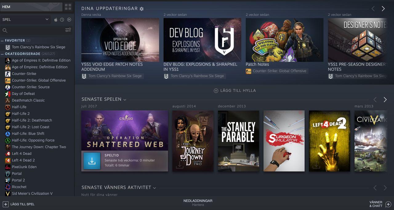 Nästan 20 miljoner samtidiga användare på Steam