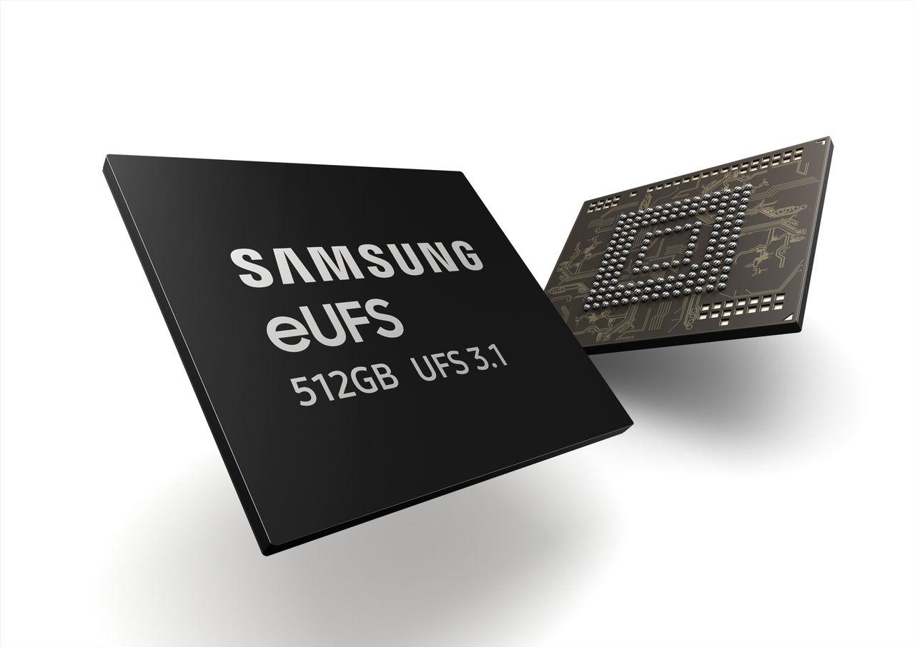 Samsung börjar massproducera eUFS 3.1-lagring