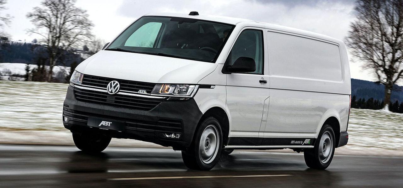 Uppdaterade Volkswagen Transporter med eldrift