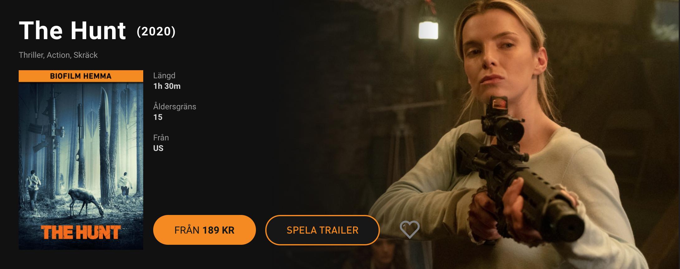 Nu släpps biofilmer på SF Anytime Kommer att kosta 189 kronor styck att hyra