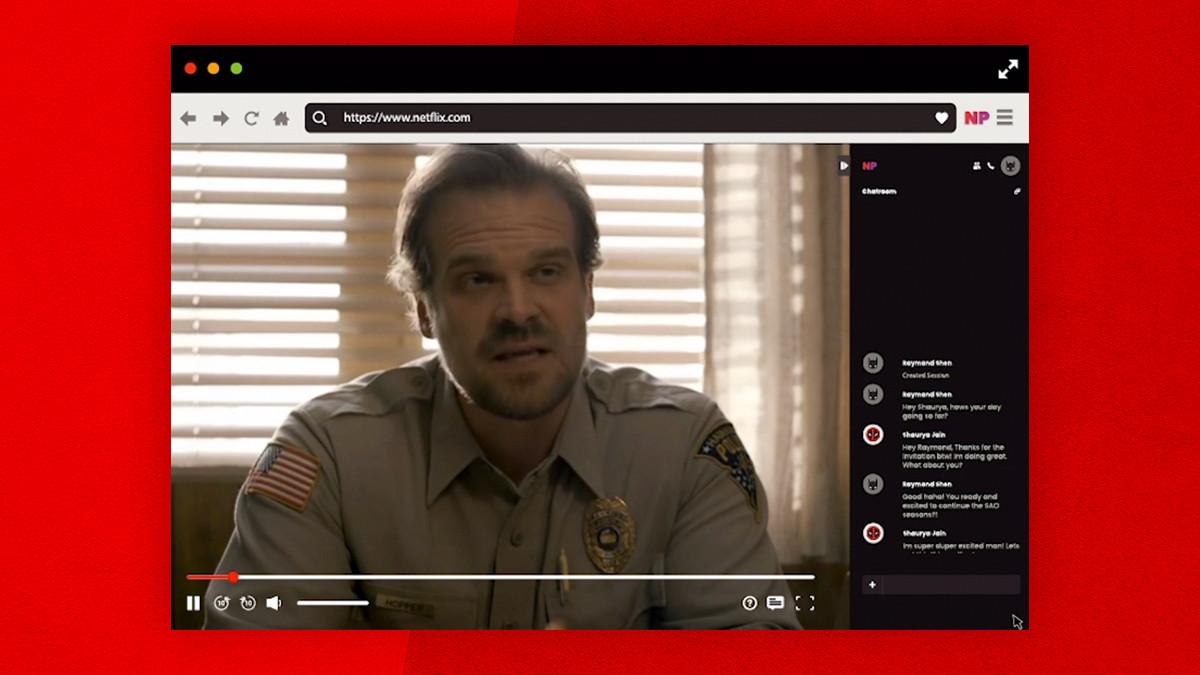 Distanskolla på film tillsammans med Netflix Party När man inte vill kolla på Netflix själv