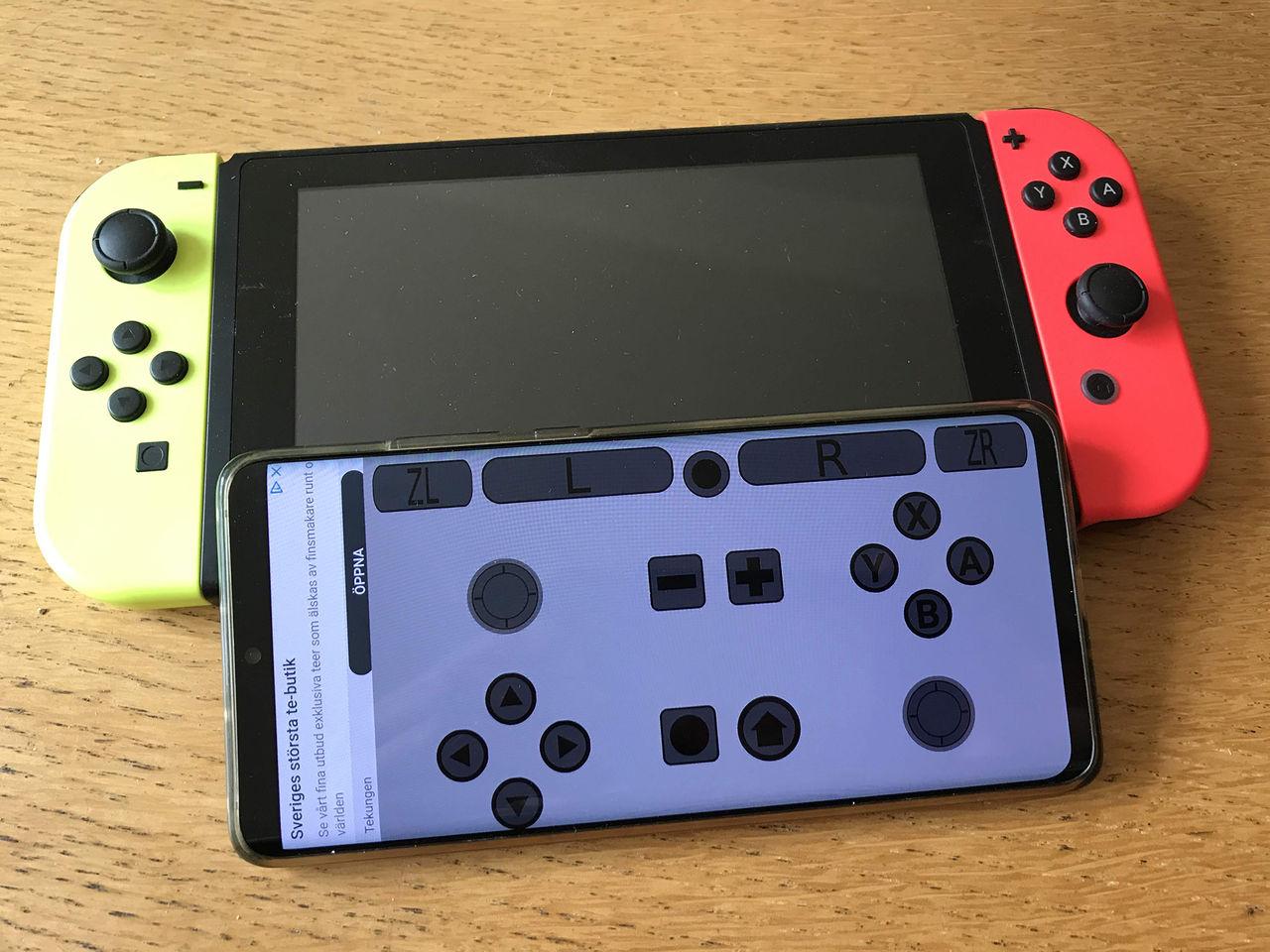 App gör om din telefon till en Nintendo Switch-kontroll