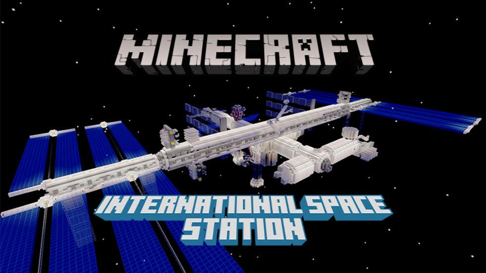 Kolla in den internationella rymdstationen ISS i Minecraft