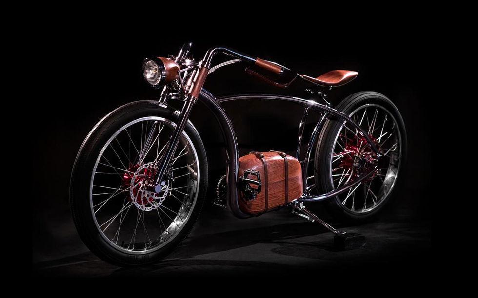 Elcykel med retro-design