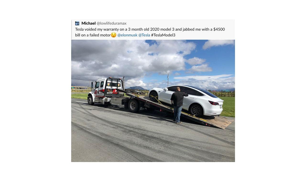 Larvfötterna på Teslan sabbade motorn