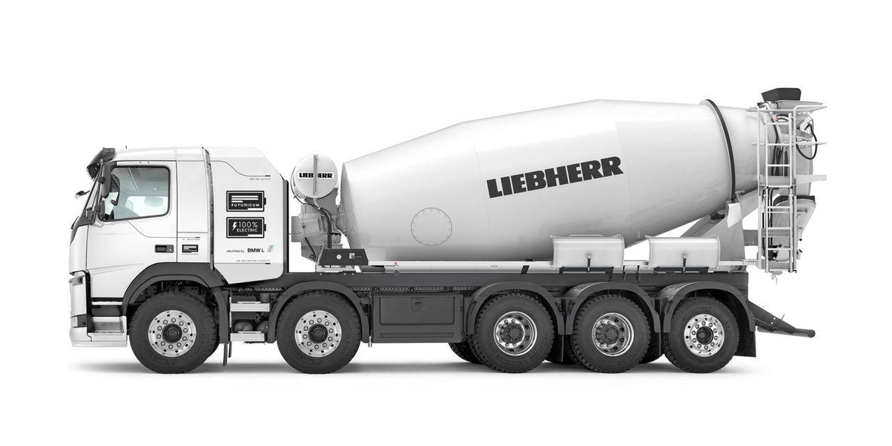 Liebherr presenterar betongbil som bara går på el