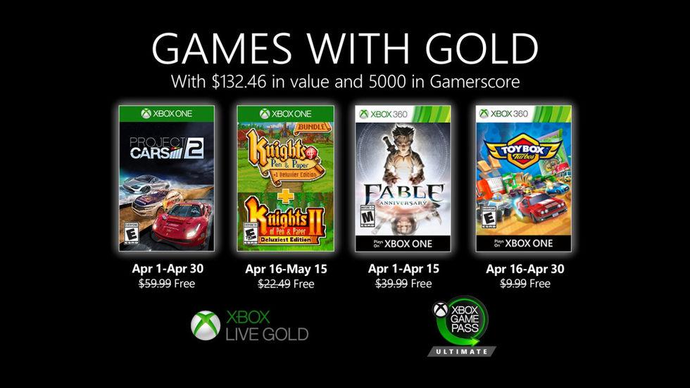 Bilspel och rollspel med nästa månads Games with Gold