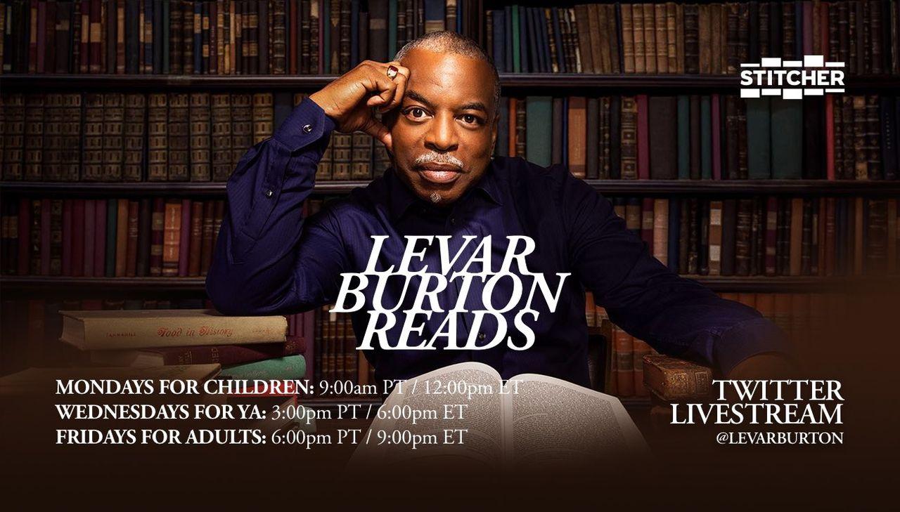 LeVar Burton börjar läsa böcker på Twitter