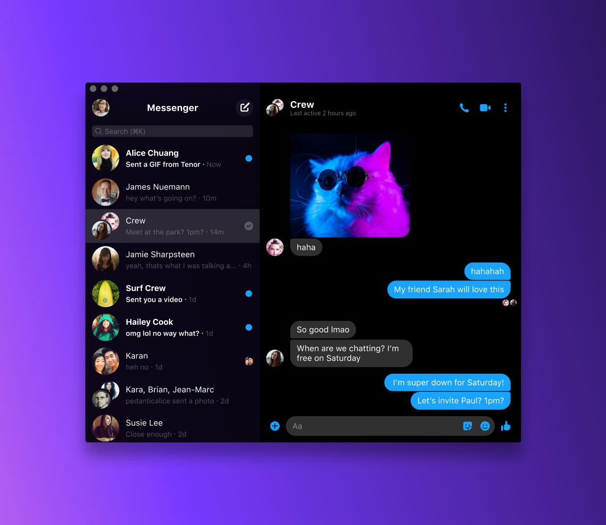 Facebook släpper Messenger för Mac och Windows Äntligen!