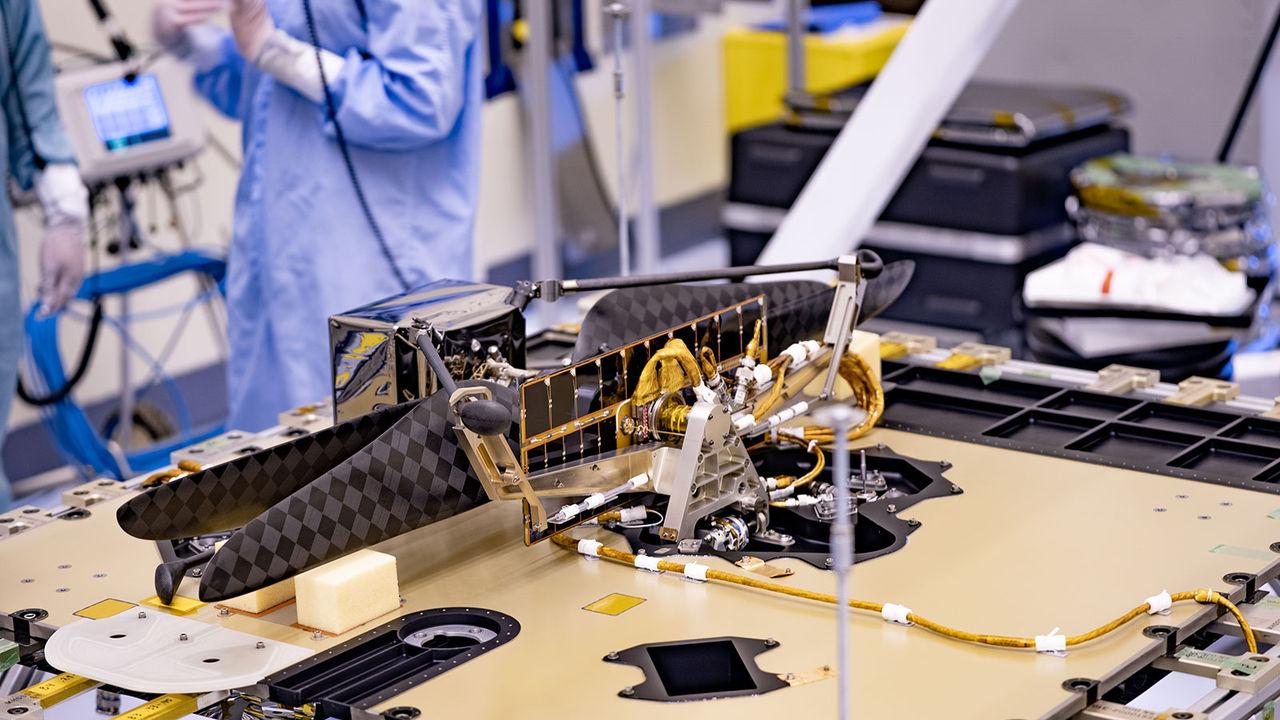 Nu är NASA:s rymdhelikopter redo att åka till Mars