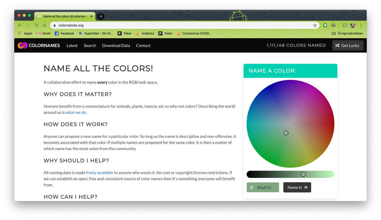 Nu kan du namnge en färg