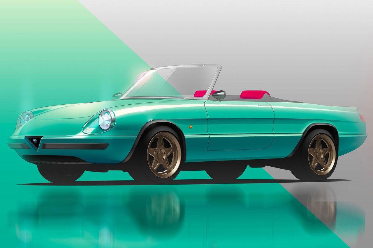 En eldriven Alfa Romeo Spider är på väg