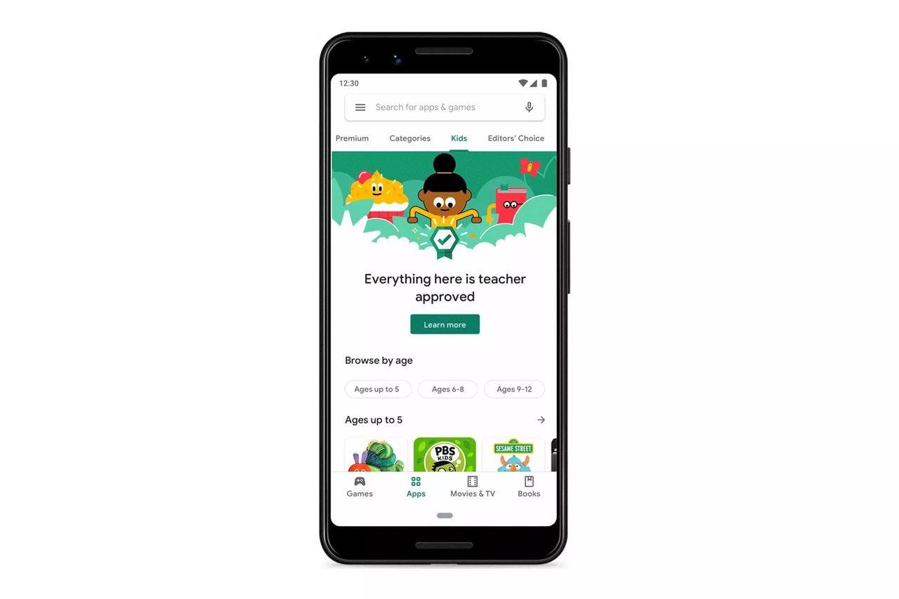 Google Play får en barnavdelning