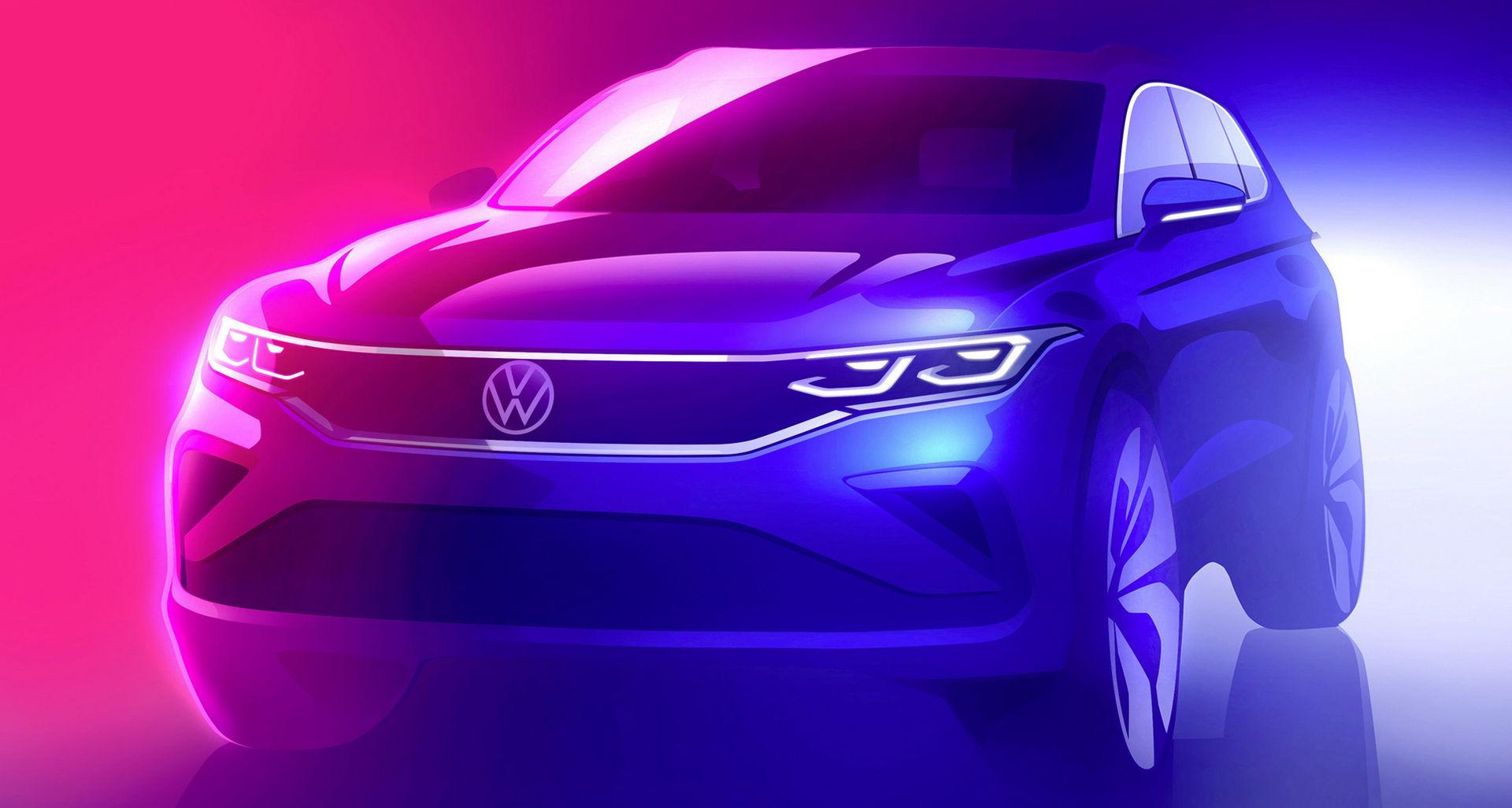 Första skissen på Volkswagen Tiguan facelift