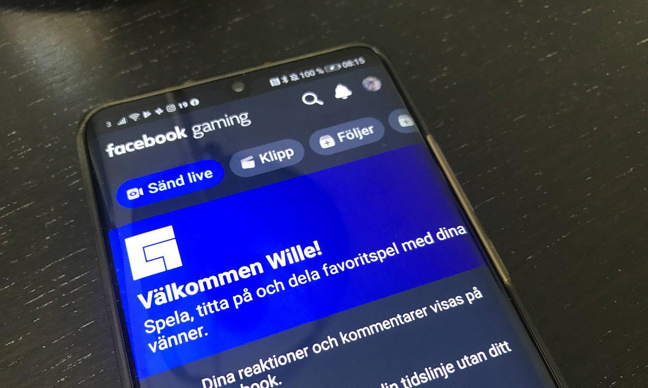 Facebook släpper gaming-app