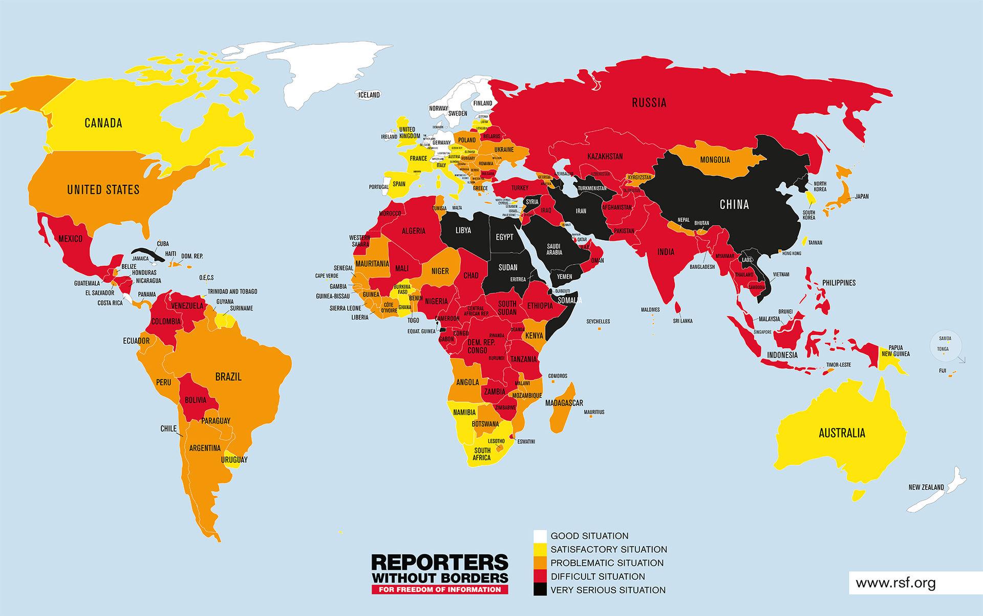 Sverige fyra på pressfrihetslista