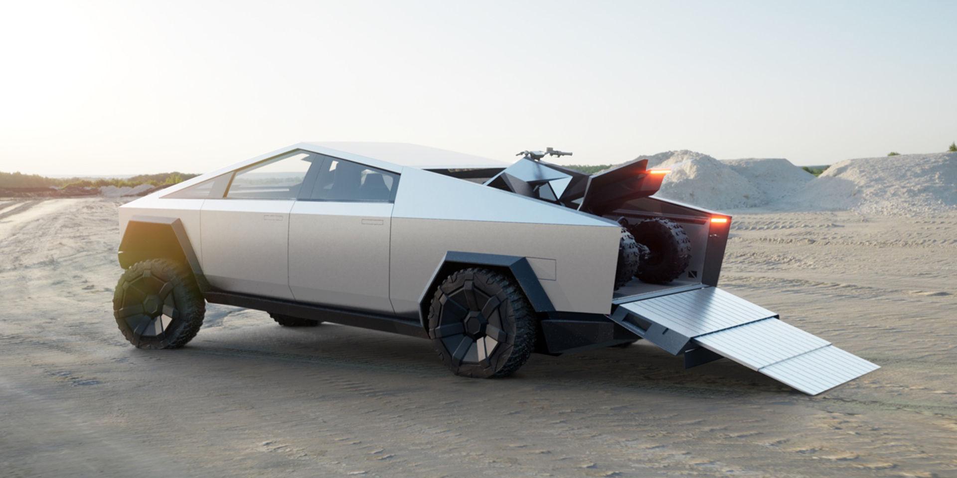 Teslas Cybertruck kommer kunna flyta på vattnet