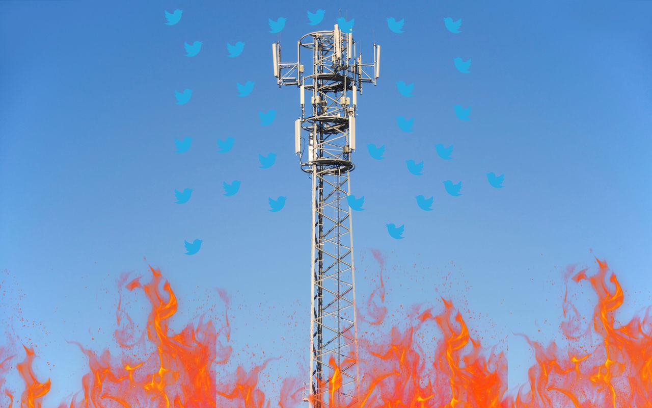 Twitter inför restriktioner för 5G-konspirationer