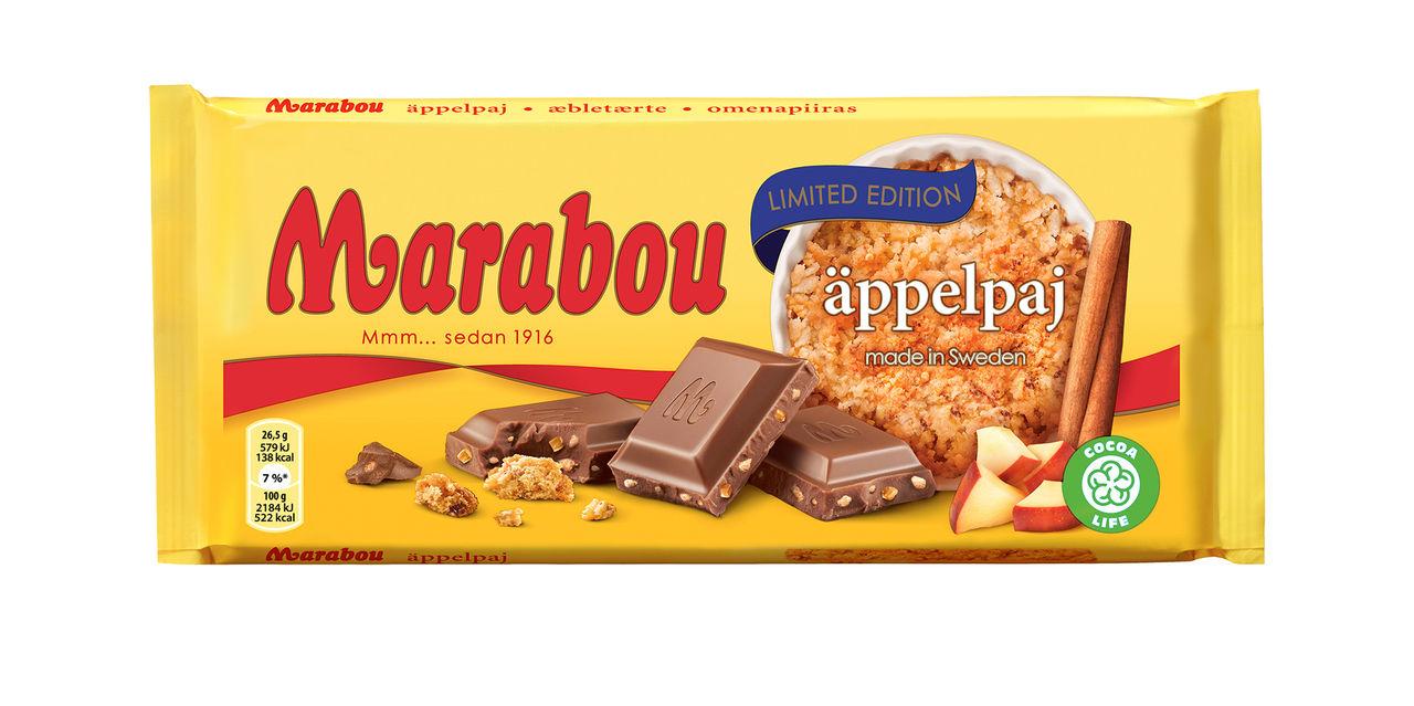 Marabou bakar in äpplepaj i chokladkaka