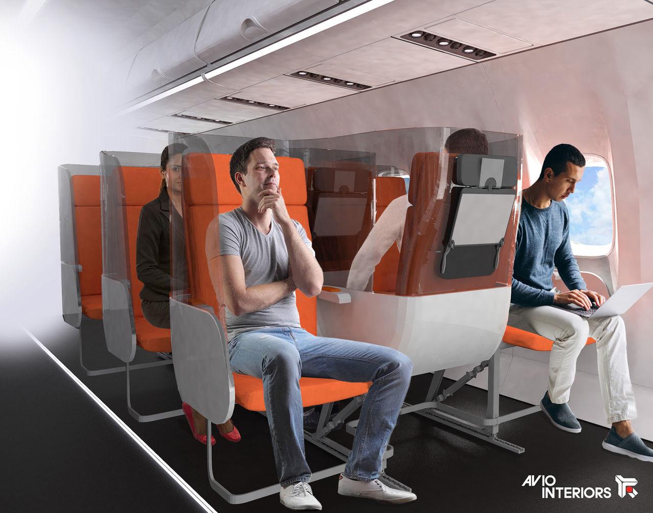 Smittbegränsande sittplatser på flygplan