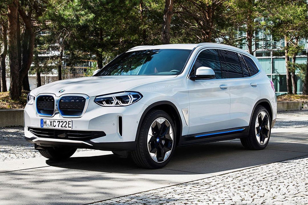 BMW iX3 i produktionskläder läcker ut