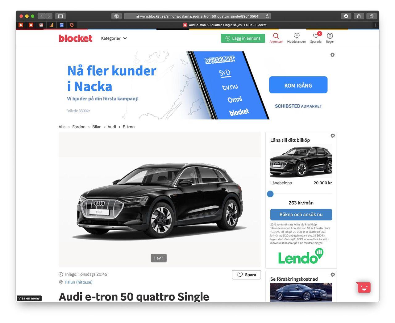 Stefan försöker bli av med sin kassa Audi e-tron