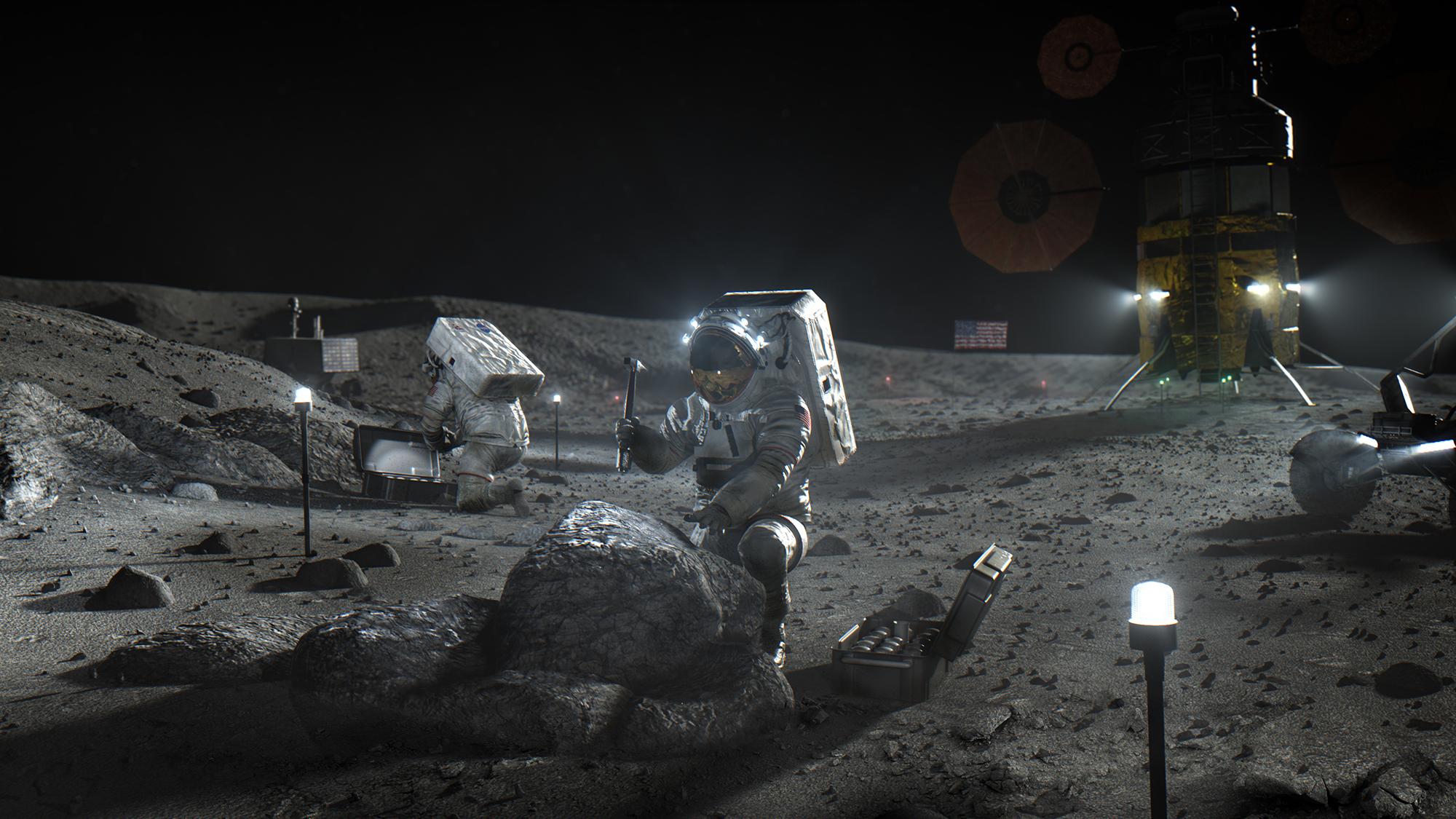 SpaceX, Blue Origin eller Dynetics ska landa astronauter på månen igen NASA har utsett företag som ska bygga ...