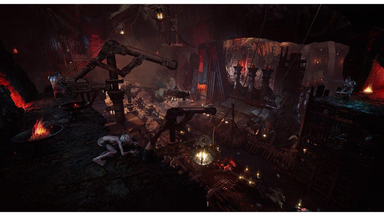 Ett gäng skärmdumpar från Lord of the Rings: Gollum